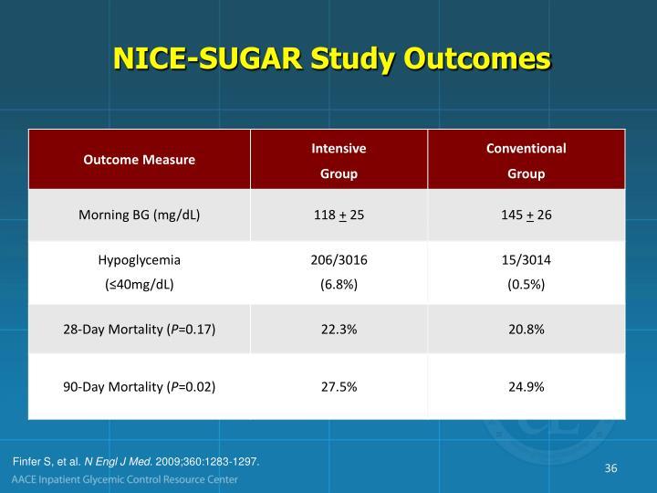 NICE-SUGAR Study