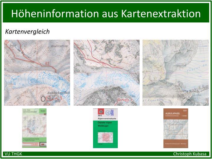 Höheninformation aus Kartenextraktion