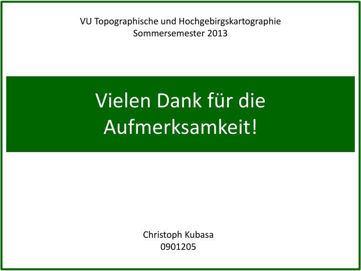 VU Topographische und