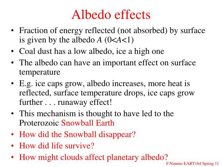 Albedo effects