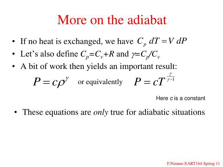 More on the adiabat