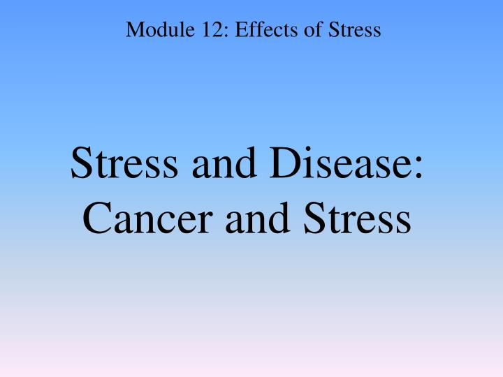 Stress and Disease: