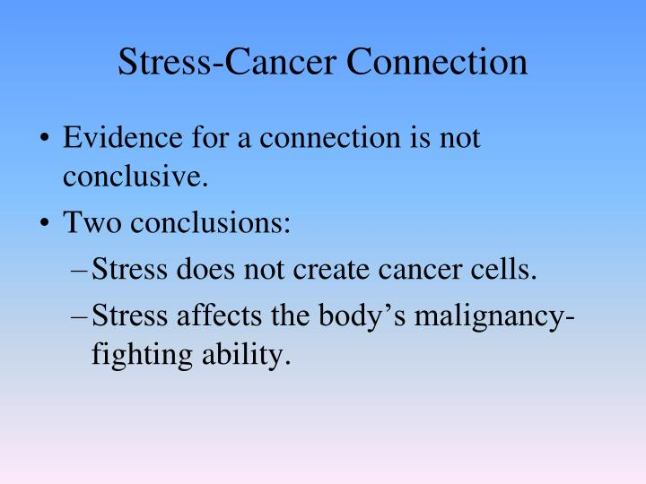 Stress-Cancer Connection