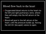 blood flow back to the heart
