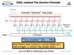 daq readout the domino principle