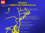 situation usace and fema actions