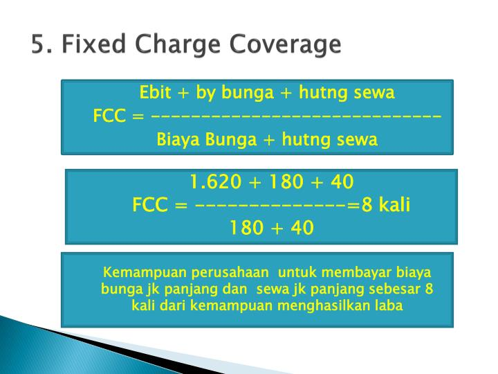 5. Fixed Charge Coverage