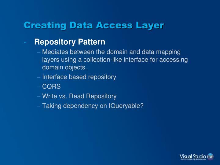 Creating Data Access Layer