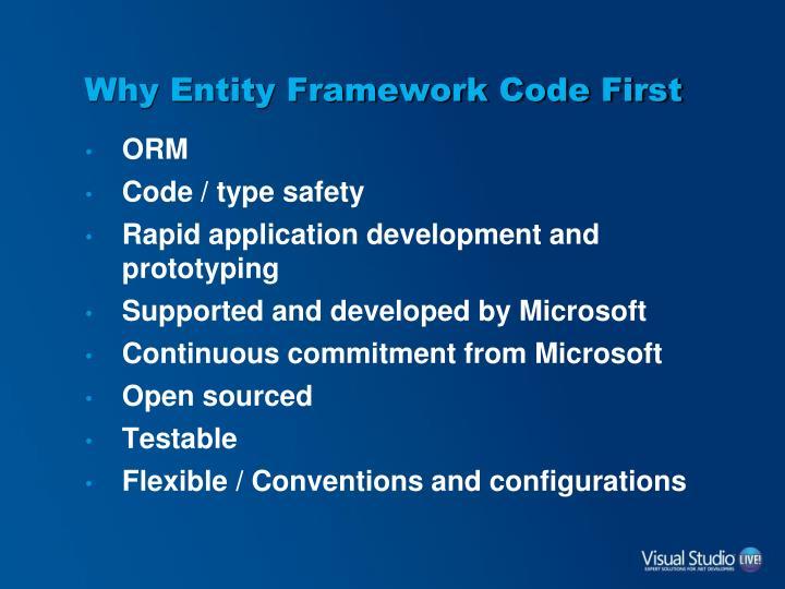 Why entity framework code first