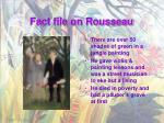 fact file on rousseau1