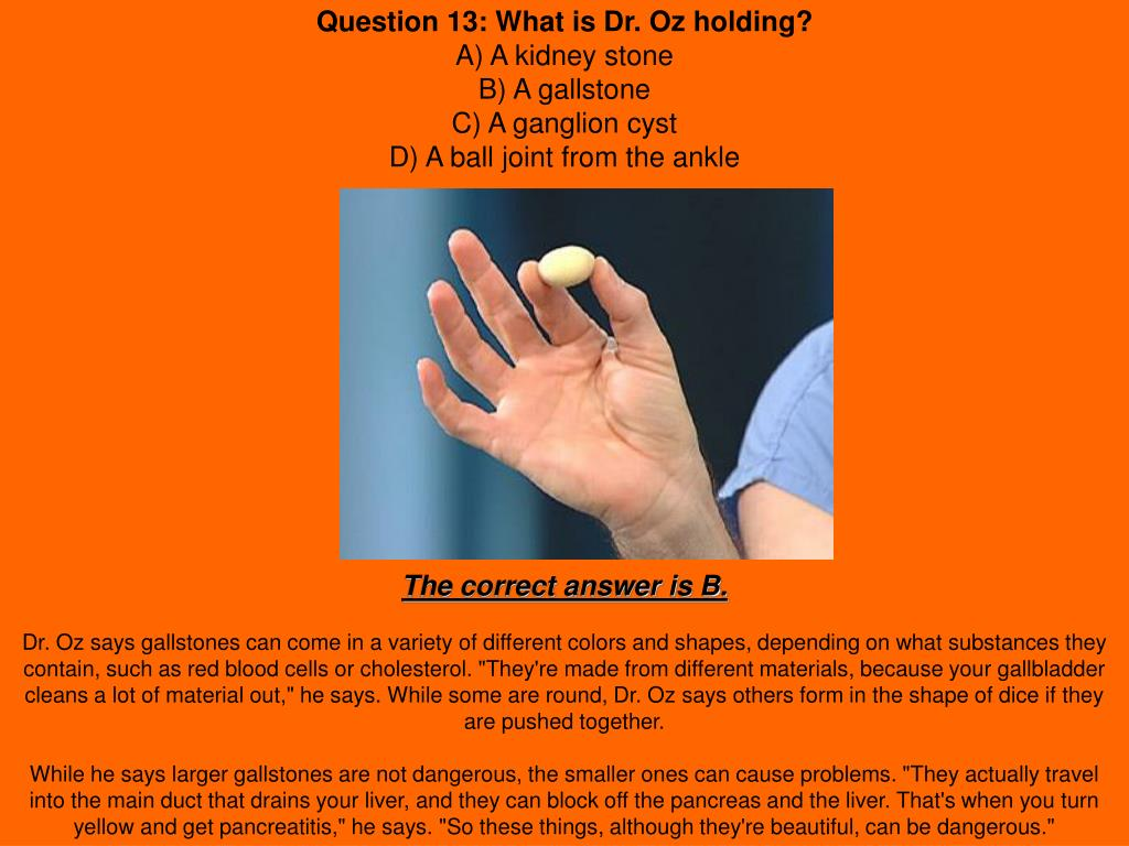 PPT - The Dr  Oz Health Quiz What do you already know about your