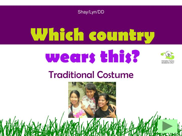 which country wears this n.