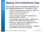 making the institutional case