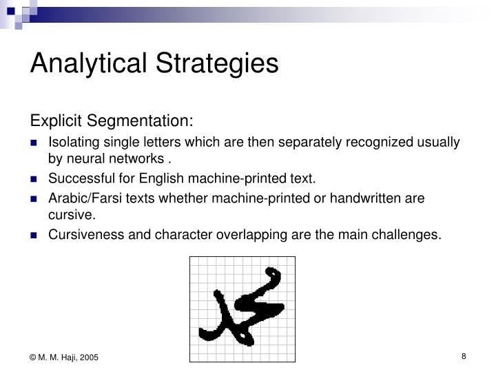 Analytical Strategies
