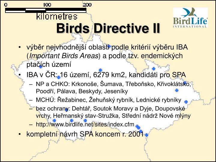 Birds Directive II