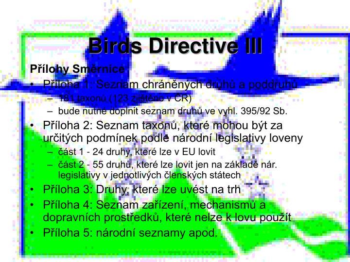 Birds Directive III