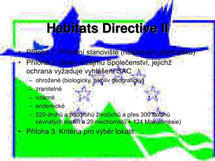 Habitats Directive II