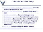 dod and air force policy