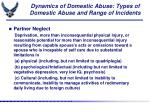 dynamics of domestic abuse types of domestic abuse and range of incidents1