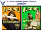 it s about drinking responsibly campaign