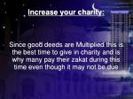 increase your charity