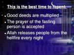 this is the best time to repent