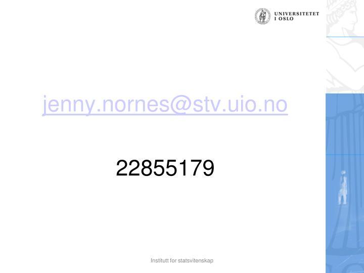 jenny.nornes@stv.uio.no