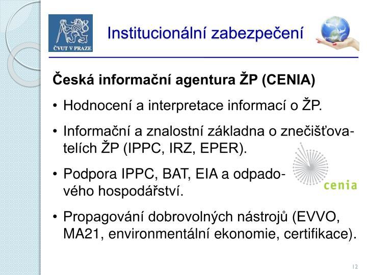 Institucionální zabezpečení
