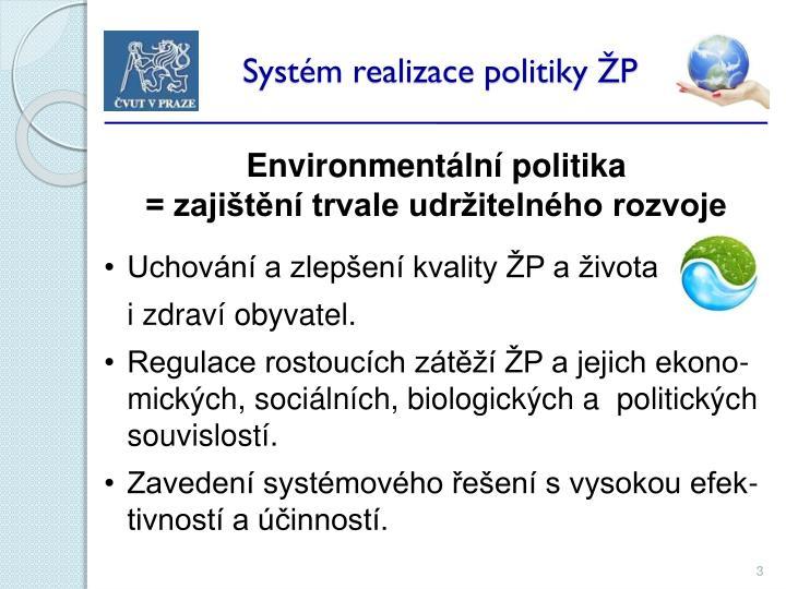 Syst m realizace politiky p1