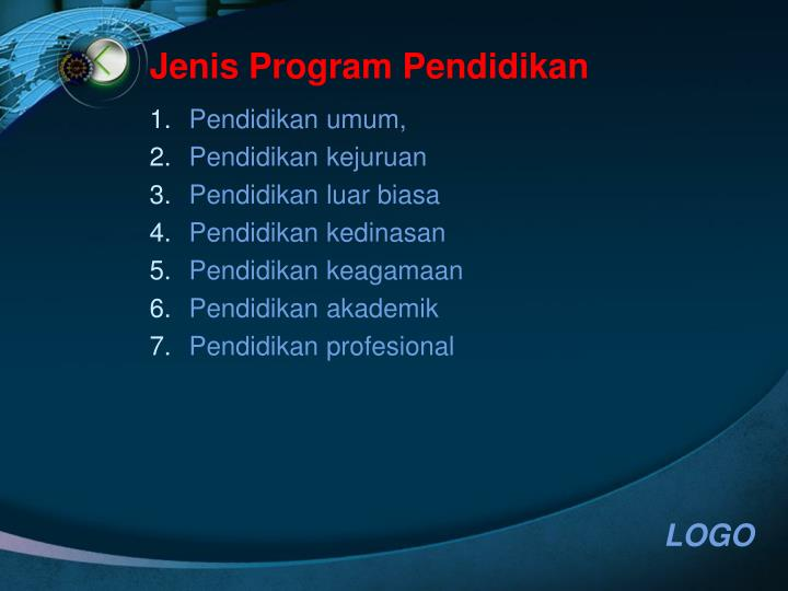 Jenis Program Pendidikan