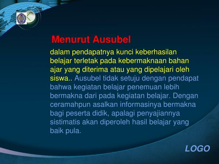 Menurut Ausubel