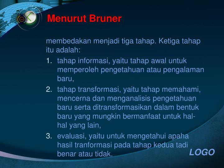 Menurut Bruner