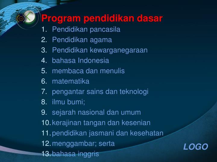 Program pendidikan dasar