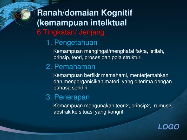 Ranah/domaian Kognitif (kemampuan intelktual