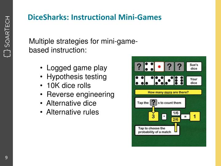 DiceSharks: Instructional Mini-Games