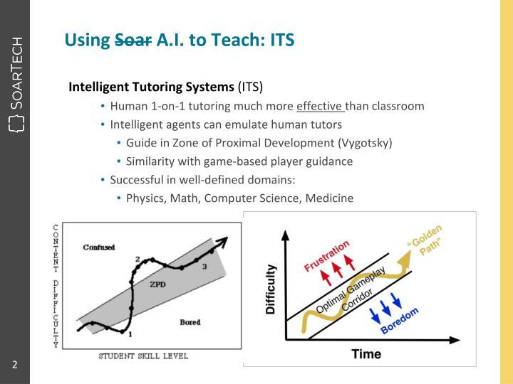 Using soar a i to teach its
