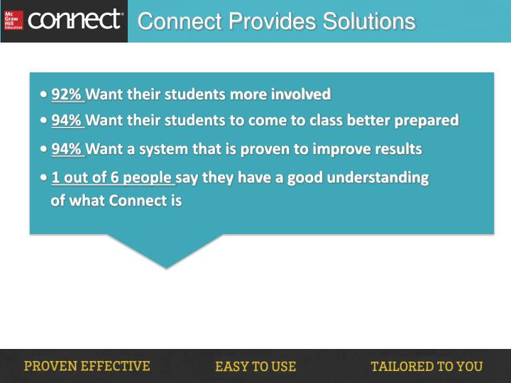 Connect Provides Solutions