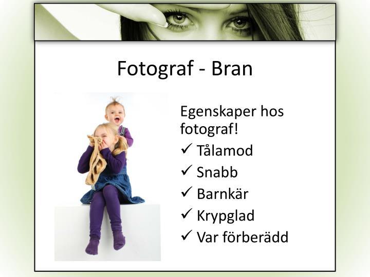Fotograf - Bran