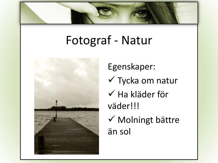 Fotograf - Natur