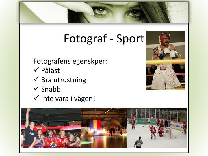 Fotograf - Sport