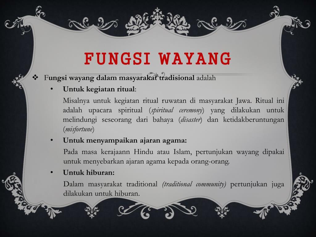 Ppt Pertunjukan Wayang Powerpoint Presentation Free Download Id 4053598