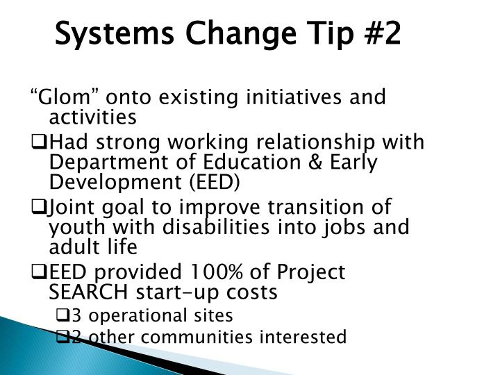 Systems Change Tip