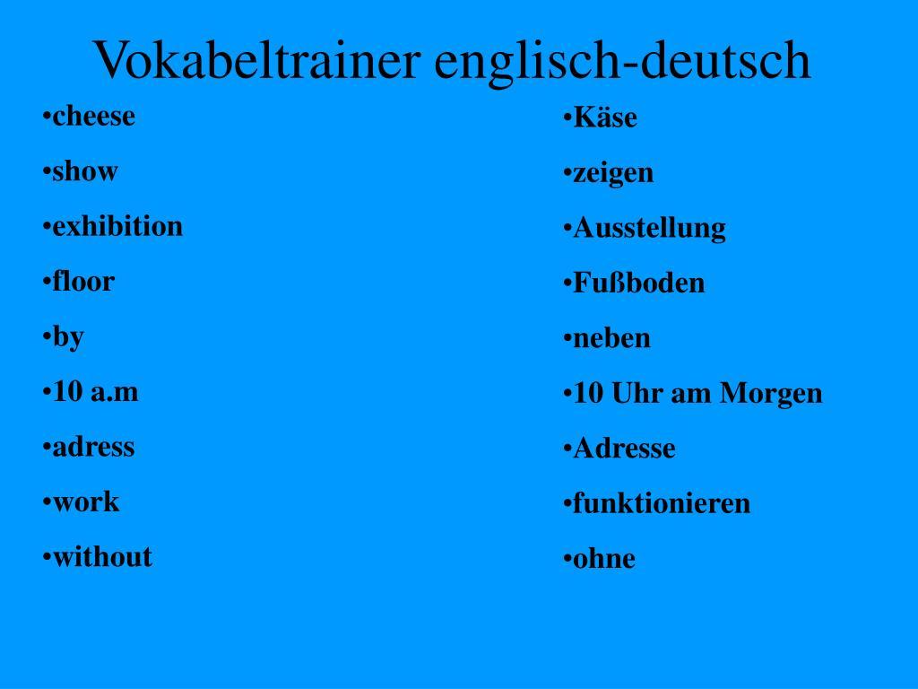 Ausleihen Englisch