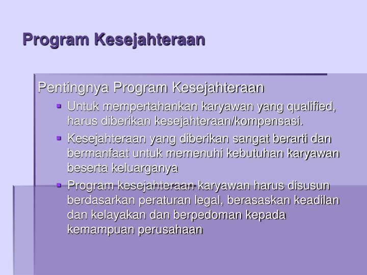 Program Kesejahteraan