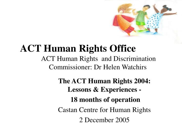 act human rights office n.