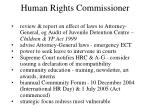 human rights commissioner