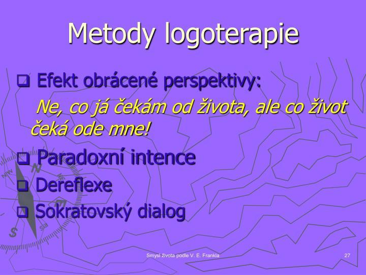 Metody logoterapie