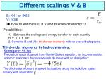 different scalings v b