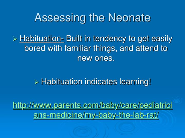 Assessing the Neonate