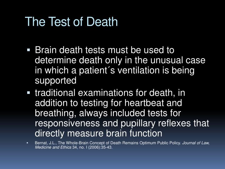 The Test of Death